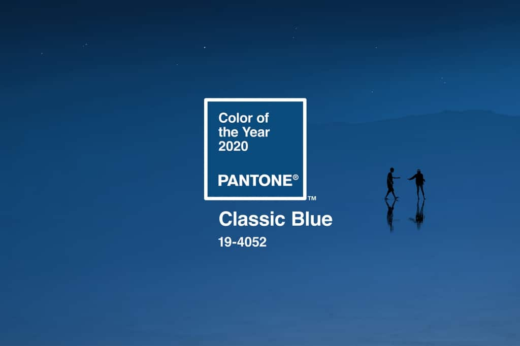 Visuele weergave van Classic Blue, de kleur van het jaar 2020.